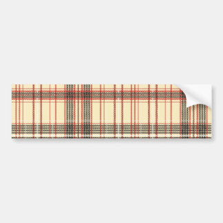 Tartan Fabric Texture Bumper Sticker
