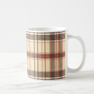 Tartan Fabric Texture Coffee Mug