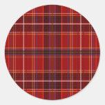 Tartan Fabric Texture Round Sticker