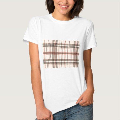 Tartan Fabric Texture T-shirt