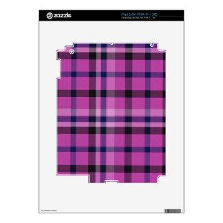 Tartán femenino o tela cruzada de la tela escocesa calcomanía para el iPad 2
