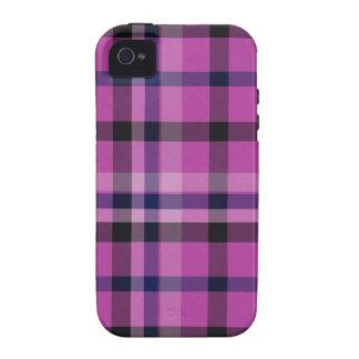 Tartán femenino o tela cruzada de la tela escocesa Case-Mate iPhone 4 carcasa