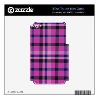Tartán femenino o tela cruzada de la tela escocesa iPod touch 4G skin