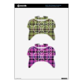 Tartán femenino o tela cruzada de la tela escocesa mando xbox 360 skins
