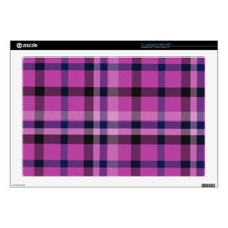 Tartán femenino o tela cruzada de la tela escocesa skins para 43,2cm portátiles