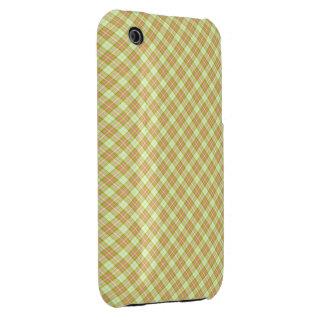 Tartan Gold Pink iPhone 3 Covers