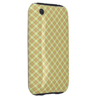 Tartan Gold Pink Tough iPhone 3 Covers