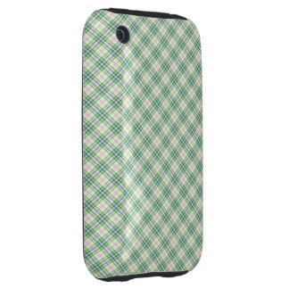 Tartan Green  Blue iPhone 3 Tough Cover