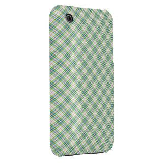 Tartan Green  Blue iPhone 3 Cover