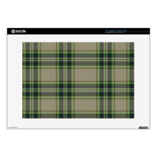 Tartan Green, Purple and White Skin Decals For Laptops
