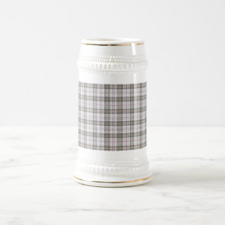 Tartán gris de la moda taza