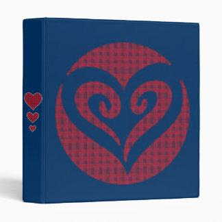 Tartan Heart 3 Ring Binder