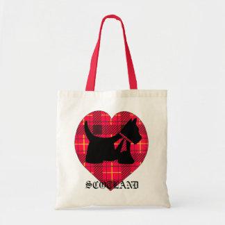 Tartan Heart Scottie Bag
