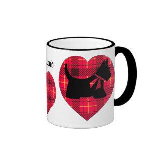 Tartan Heart & Scottie Mug