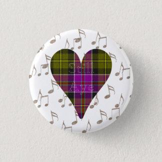 Tartan Heart Still Aye Indy Badge Pinback Button