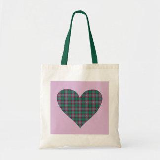 Tartan Heart Tote Bag