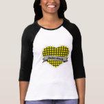 Tartan Hearts Logo baseball shirt