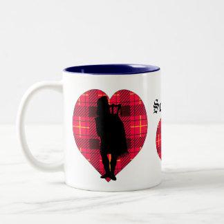 Tartan hearts & Piper Mug