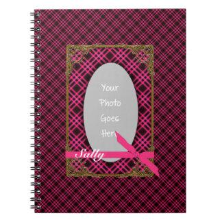 Tartan HOT PINK and BLACK Photo Notebook