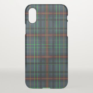 Tartan in blue, orange, green...