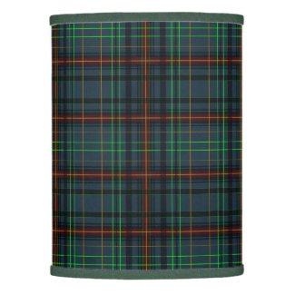 Tartan in blue, orange, green lamp shade