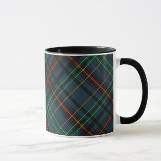 Tartan in blue, orange, green... mug
