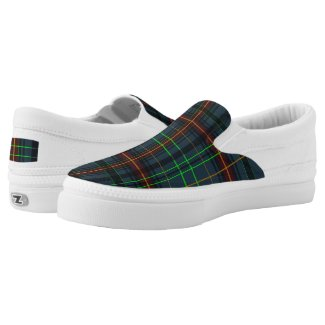 Tartan in blue, orange, green... Slip-On sneakers