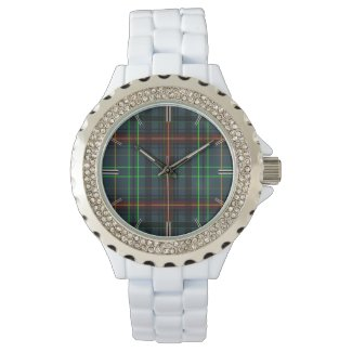 Tartan in blue, orange, green... watch