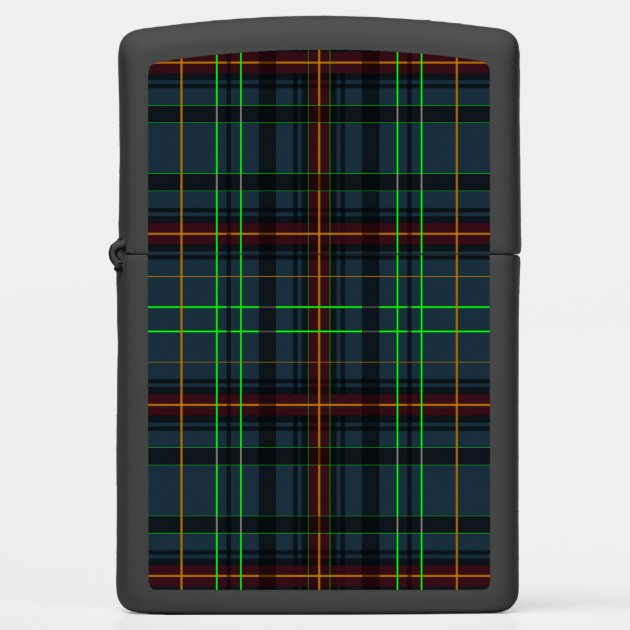 Tartan in blue, orange, green... zippo lighter