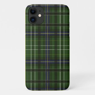 Tartan in green iPhone 11 case
