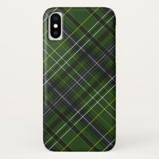 Tartan in green... iPhone x case