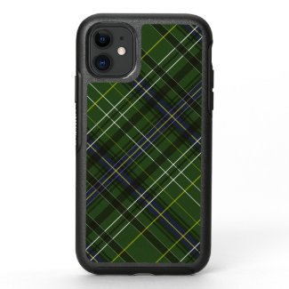 Tartan in green OtterBox symmetry iPhone 11 case