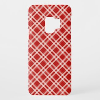 Tartan in red Case-Mate samsung galaxy s9 case