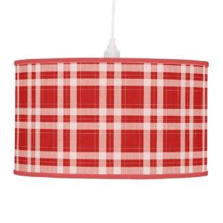 Tartan in red ceiling lamp