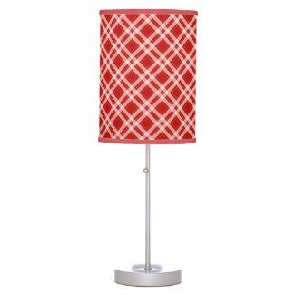 Tartan in red table lamp