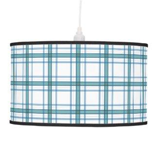 Tartan in turquoise ceiling lamp