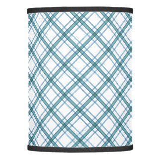 Tartan in turquoise diagonal lamp shade