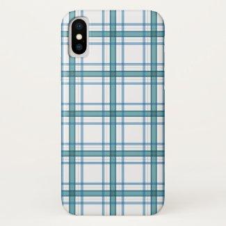 Tartan in turquoise... iPhone x case