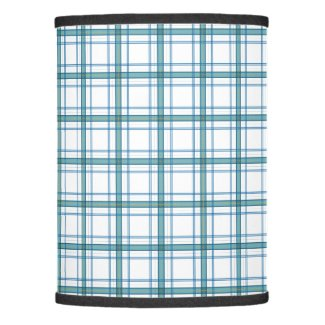 Tartan in turquoise lamp shade