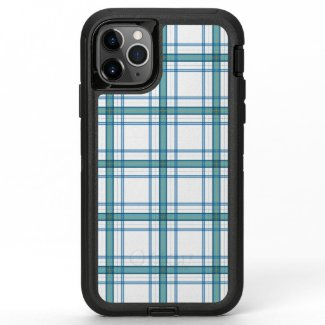 Tartan in turquoise... OtterBox defender iPhone 11 pro max case