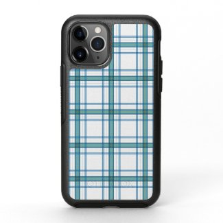 Tartan in turquoise... OtterBox symmetry iPhone 11 pro case