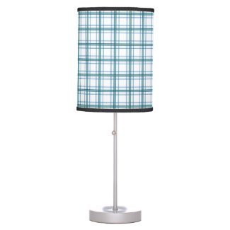 Tartan in turquoise table lamp