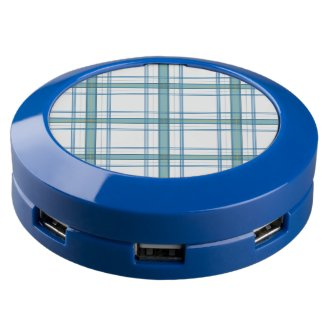 Tartan in turquoise... USB charging station
