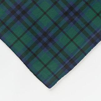 Tartán moderno azul marino y verde del clan de manta de forro polar