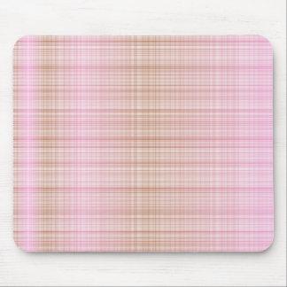 Tartán Mousepad de Pink&Brown Tapetes De Raton