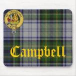 Tartán Mousepad del clan de Campbell Tapete De Raton