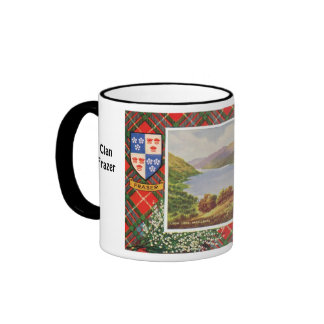 Tartan Mug, Clan Fraser, Loch Long Ringer Coffee Mug