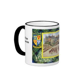 Tartan Mug, Clan  Gordon Ringer Coffee Mug
