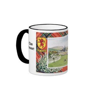 Tartan Mug, Clan  Royal Stewart Ringer Mug