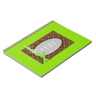 Tartan Neon Green Photo Notebook